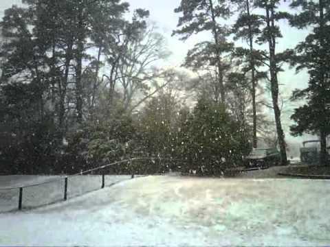 Whitehouse TX 1/9/11 snowing!!!