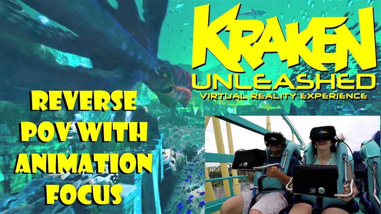 Download Kraken Unleashed 4K Reverse Pov With Animation Feature Focus SeaWorld Orlando