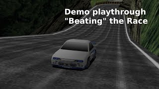 Rage Racer Demo - Beating the Race