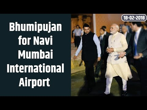 Bhumipujan for Navi Mumbai International Airport and to inaugurate the 4th container terminal