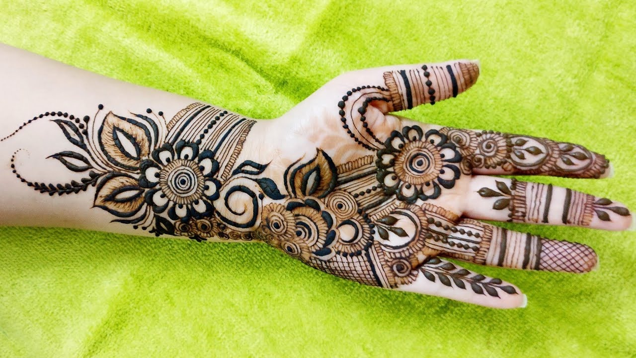arabic modern mehndi designs for front hands