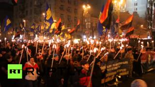 Thousands of ultra-nationalists march in Kiev honoring Stepan Bandera