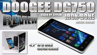 "DOOGEE DG750 Iron Bone (REVIEW) CNC Alloy Frame, 4.7"" IPS OGS - Best MT6592 Budget Phone?"