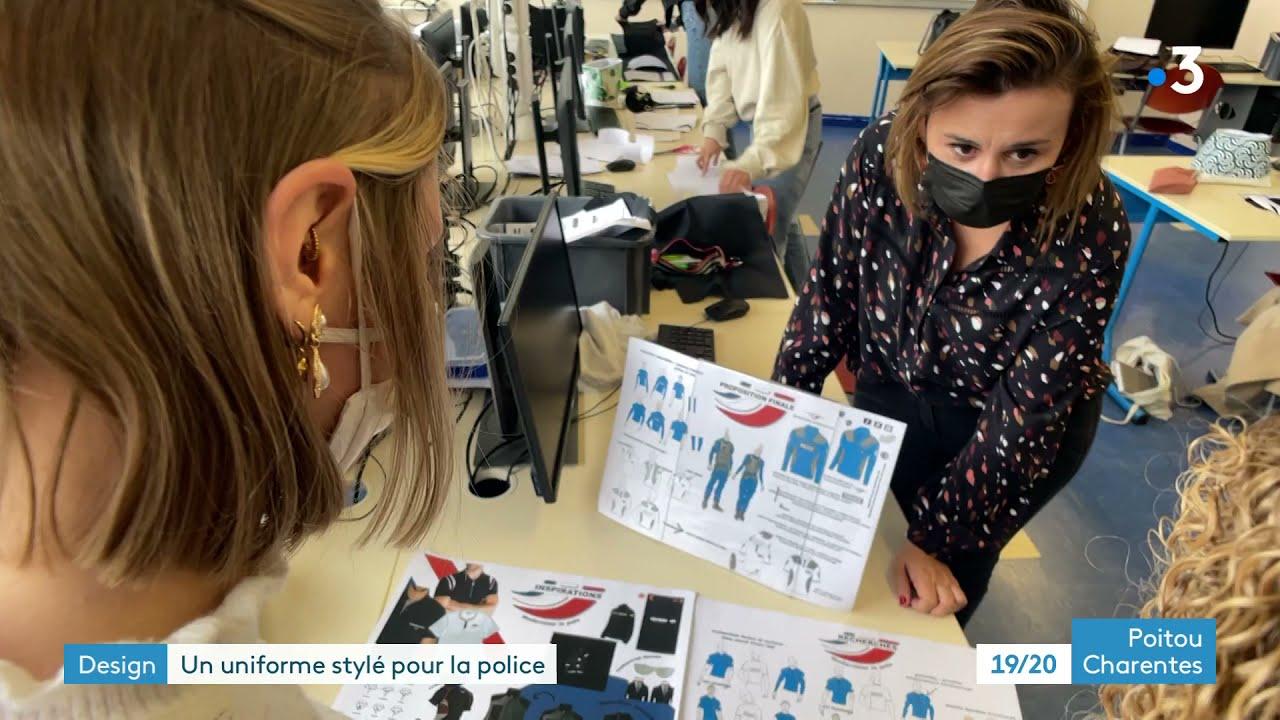 Download Les élèves du lycée Le Dolmen à Poitiers ont planché sur le futur uniforme de la Police nationale