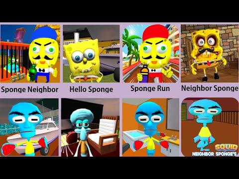 Sponge Neighbor,Squid Neighbor,Neighbor Sponge,Squid Sponge,Sponge Bob Run
