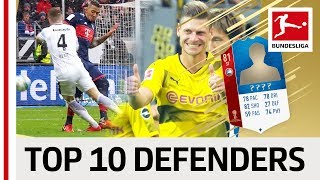 Top 10 Defending Players at the 2018 World Cup - EA SPORTS FIFA 18 - Boateng, Piszczek & More