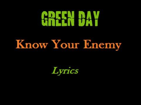 GREEN DAY Know Your Enemy Lyrics