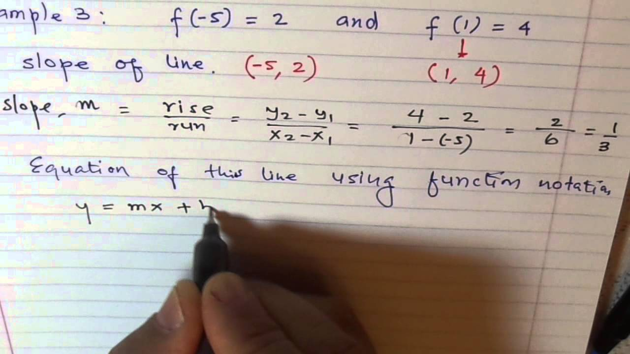 Function Notation Ordered Pairs