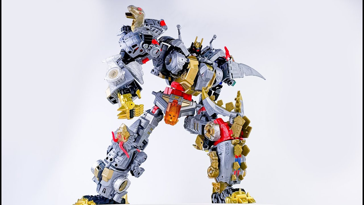 Transformers Stop Motion:Dinoking Transform and Combine!By Mangmotion變形金剛定格動畫:恐龍大合體修羅王! - YouTube
