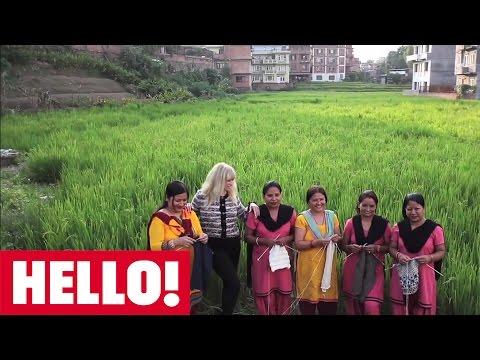 Jo Wood visits People Tree hand knitters in Nepal