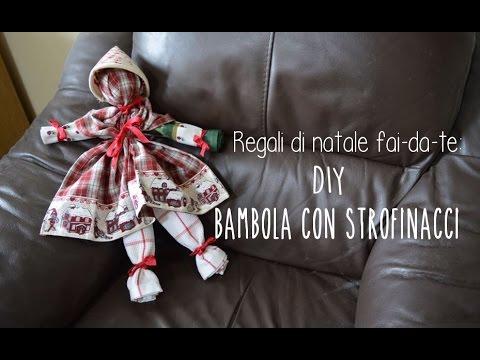 Regali Di Natale Fai Da Te Diy Bambola Di Strofinacci Pronta In 5 Minuti