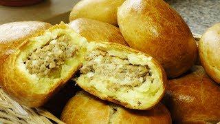 Печёные пирожки с мясом и яйцом. Видео рецепт от Надежды
