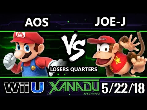 S@X 251 Smash 4 - AoS (Mario) Vs. Joe-J (Diddy Kong) - Wii U Losers Quarters