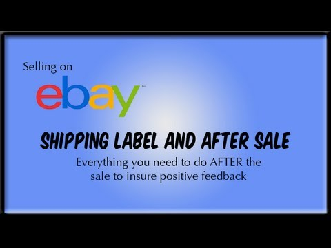 Selling on eBay: Printing Shipping Label