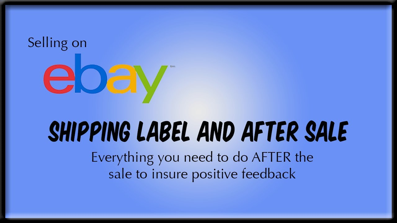 Selling on eBay Printing Shipping Label YouTube – Packing Label Template