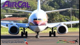 AirCal 737-800 by American Airlines in action @ St. Kitts Airport !!!