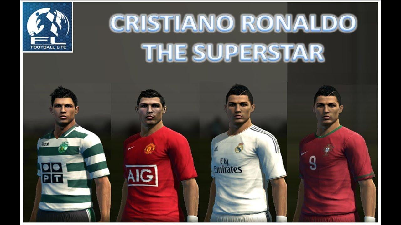 PES Cristiano Ronaldo Football History Part YouTube - New face hair cristiano ronaldo pes 2013