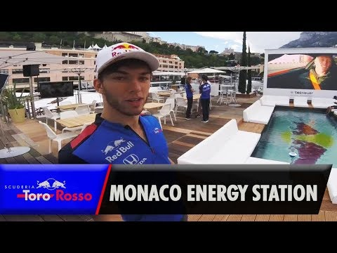 Pierre Gasly's Tour Of The Monaco Energy Station