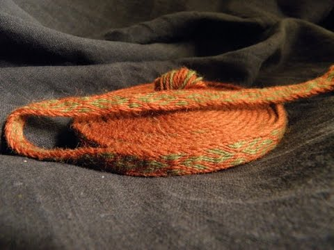 Tablet woven trim, Viking reenactment, historical braid
