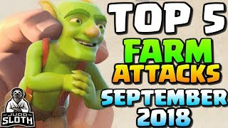 TOP 5 Farm Attacks September 2018 | Clash of Clans
