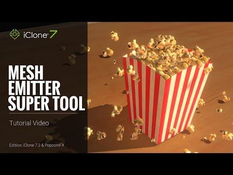 iClone 7 Tutorial - PopcornFX Super Tools: Mesh Emitter