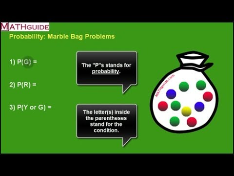 Probability Marble Bag Problems Youtube