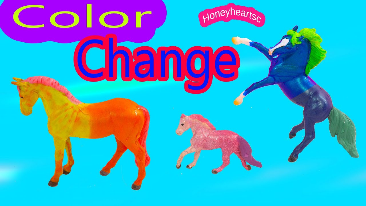 Breyer Color Change Horses Diy Stablemates Mini Whinnies Paint Craft Fun Honeyheartsc Video