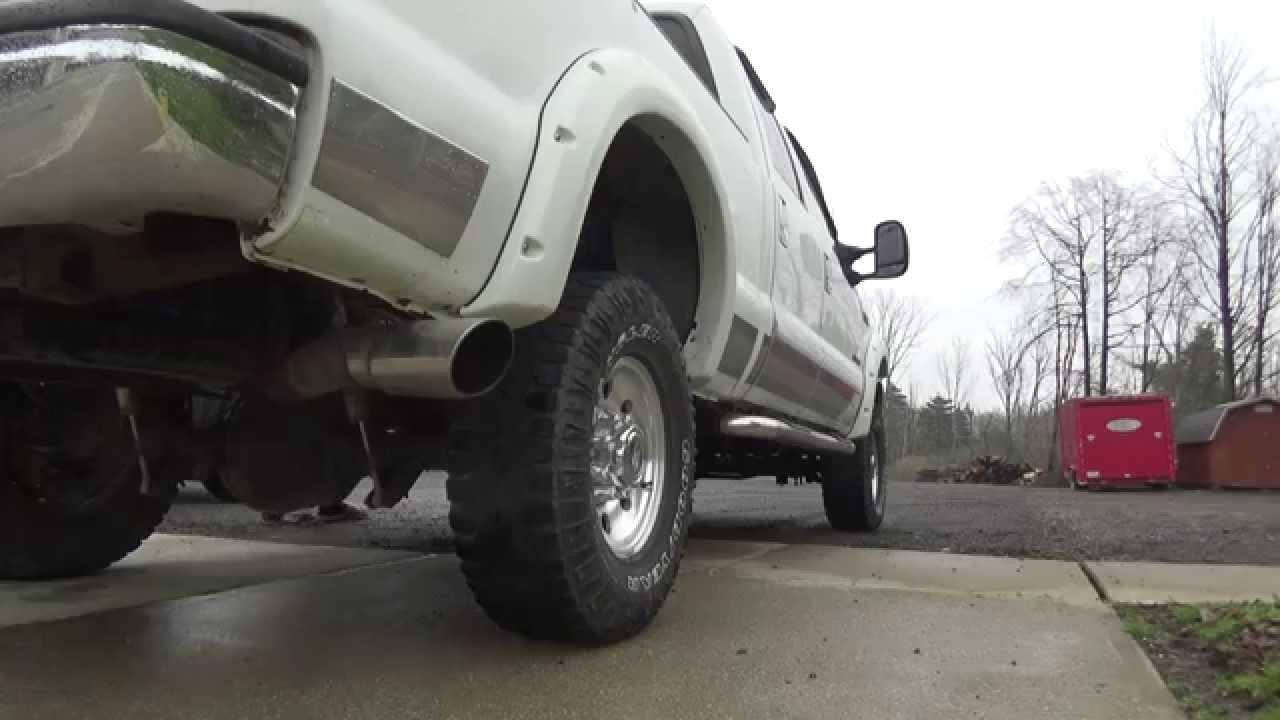 Diesel Exhaust Tip >> 2002 F250 7.3 Powerstroke Magnaflow Exhaust - YouTube