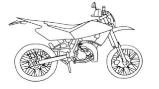 How to draw a motorbike