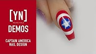 Young Nails Nail Demo - Captain America Nail Design - Gel Paint Nails - Duration: 3 minutes, 19 seconds.