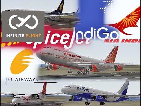 Infinite Flight - Plane Spotting - Indian Airliners in Infinite Flight