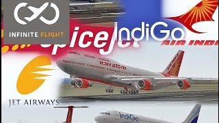 Infinite Flight - Plane Spotting - Indian Airliners in Infinite Flight