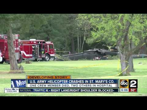 1 dead, 2 others at Shock Trauma after U.S. Army helicopter crashes