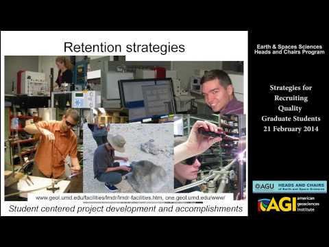 Strategies for Recruiting Quality Graduate Students - Feb 2014 AGU/AGI Heads and Chairs Webinar