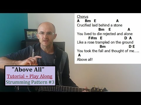 """ABOVE ALL"" Tutorial + Play Along. Beginner Guitar Lesson. Henry Braun"