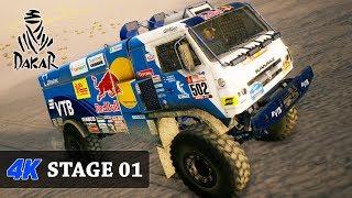 4K Gameplay - DAKAR 18 Rally Game - TRUCKS - FULL Stage 01 - (LIMA - PISCO) KAMAZ - MASTER