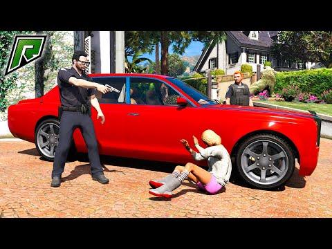 ПРОДАЖНЫЕ КОПЫ угоняют Роллс Ройс в ПЕРВЫЙ ДЕНЬ в Полиции! - GTA 5 RP Radmir (Моды ГТА 5)