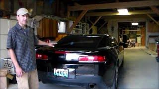 2014-15 Chevrolet Camaro installing spoiler