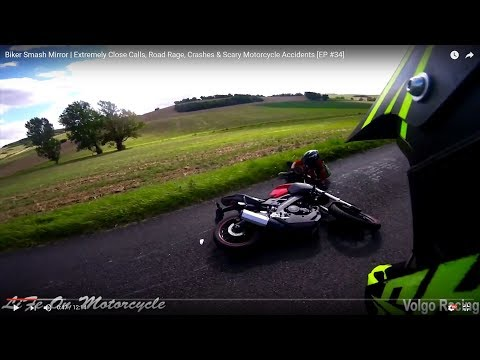 Biker Smash Mirror | Extremely Close Calls, Road Rage, Crashes & Scary Motorcycle Accidents [EP #34]