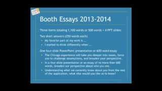 Booth School of Business MBA essay analysis and tips