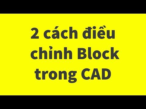 2 Chức năng điều chỉnh Block trong AutoCAD    Edit Block Definition vs Edit Block in Place