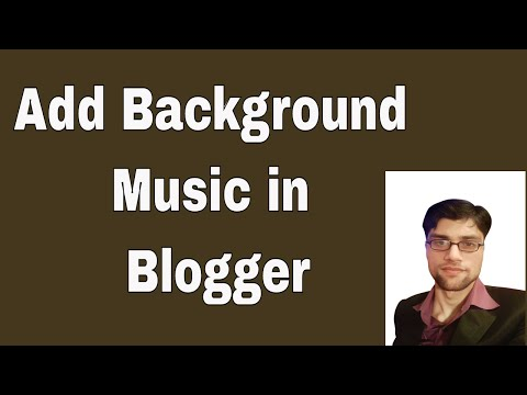 How to add Background Music in blogger