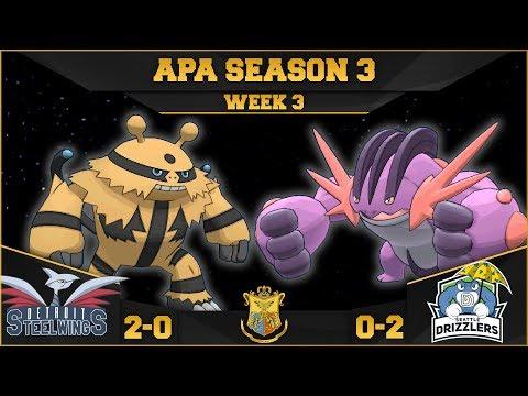 CLASH OF STREAMERMEN! • Detroit Steel Wings vs Seattle Drizzlers APA W3 • Pokemon Ultra Sun and Moon