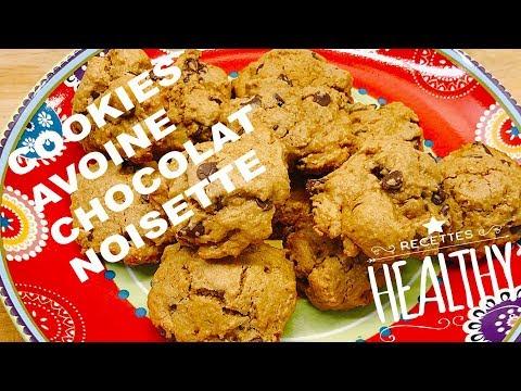 cookies-healthy-flocons-d'avoine,-chocolat-et-noisette