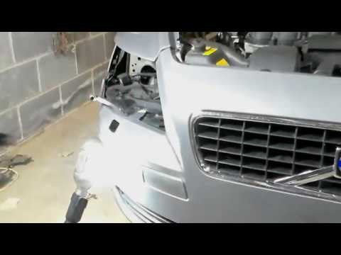Volvo S40 Headlght washer nozzel replace - YouTube