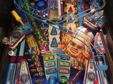 Thunderbirds Are Go (TAG) Pinball Game Play at Pinfest 2017