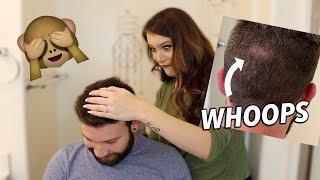 giving my husband a haircut disaster
