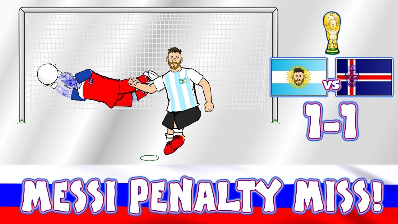 😲MESSI PENALTY MISS!😲 Footballers React! (Argentina vs Iceland 1-1 Parody Highlights)