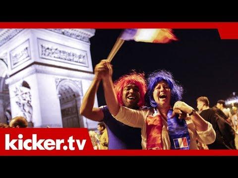 Jubel auf der Champs Elysees - Frankreich erreicht das WM-Finale | kicker.tv