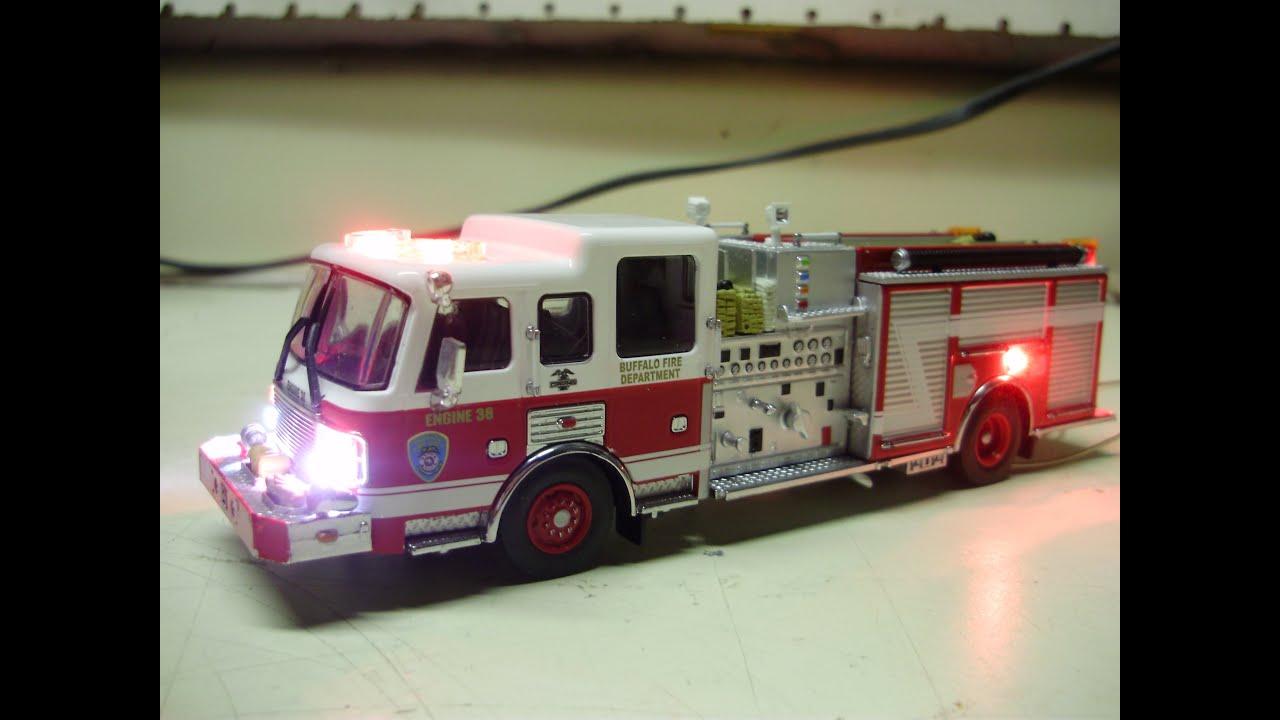 John U0026 39 S Custom Code 3 64th Scale Diecast Buffalo Fd Pumper Fire Truck W   Working Lights